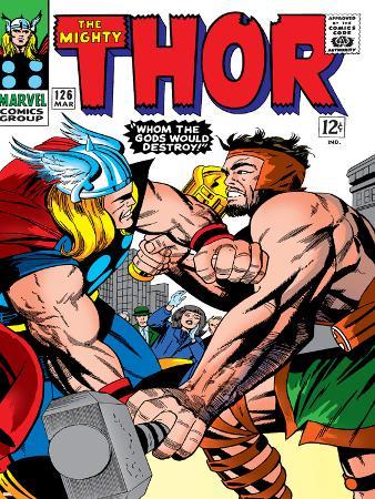 Marvel Comics Retro: The Mighty Thor Comic Book Cover No.126, Hercules