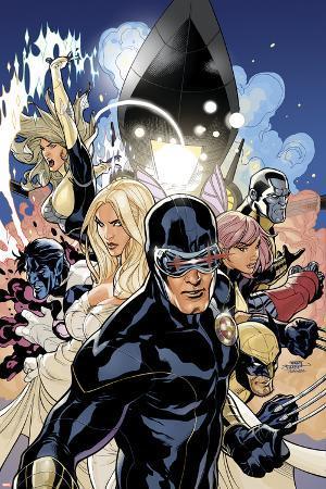 Uncanny X-Men No.505 Cover: Cyclops, Emma Frost and Dazzler