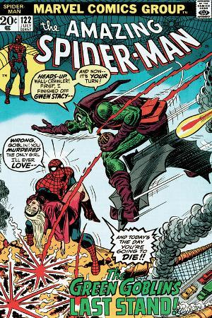Marvel Comics Retro: The Amazing Spider-Man Comic Book Cover No.122, the Green Goblin's Last Stand!