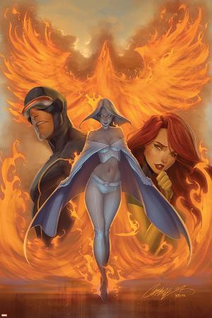 What if? Astonishing X-Men No.1 Cover: Emma Frost, Phoenix and Cyclops