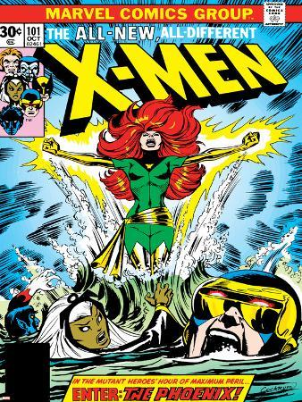 Marvel Comics Retro: The X-Men Comic Book Cover No.101, Phoenix, Storm, Nightcrawler, Cyclops
