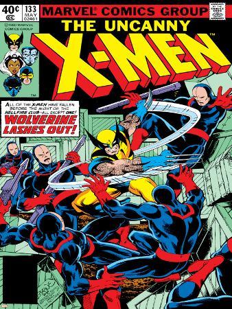 Marvel Comics Retro: The X-Men Comic Book Cover No.133, Wolverine Lashes Out