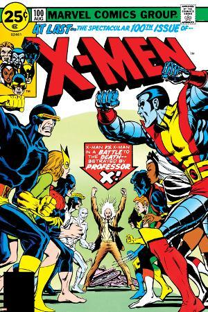 Marvel Comics Retro: The X-Men Comic Book Cover No.100, Professor X