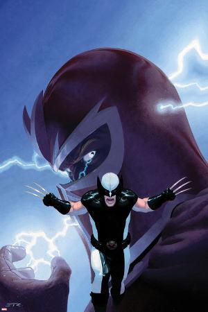Uncanny X-Force No.9 Cover: Wolverine and Magneto