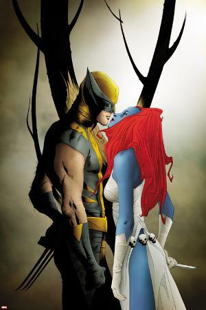 Wolverine No.9 Cover: Wolverine and Mystique Kissing
