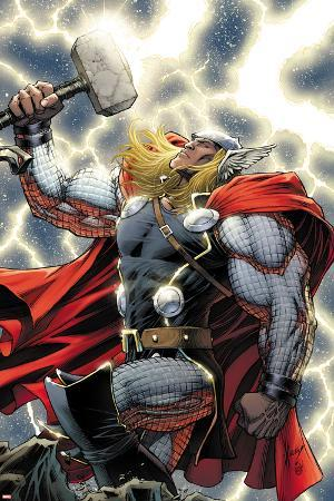 The Mighty Thor No.11 Cover: Thor Standing with Mjonir