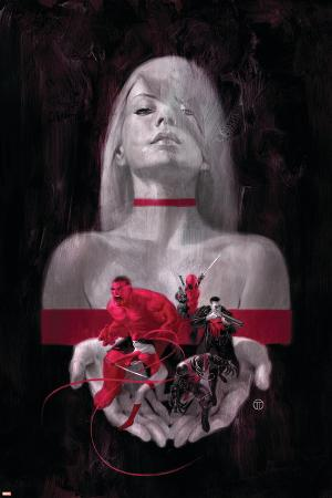 Thunderbolts #6 Cover: Mercy, Red Hulk, Deadpool, Elektra, Punisher, Venom