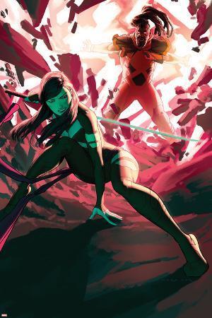 Uncanny X-Force #3 Cover: Psylocke, Bishop