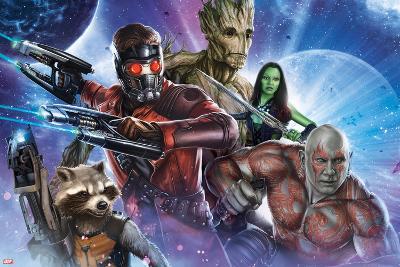 Guardians of the Galaxy - Star-Lord, Drax, Groot, Gamora, Rocket Raccoon