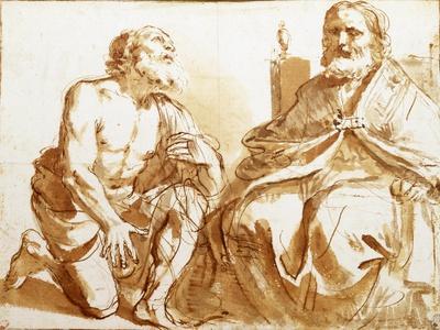 Seated Bishop and Kneeling Saint