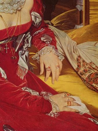 Madame De Senonnes, Detail of Her Arms, 1814-16