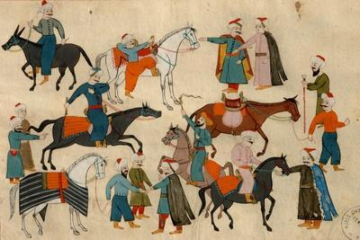 Ms. Cicogna 1971, Miniature from the 'Memorie Turchesche' Depicting Horse Traders