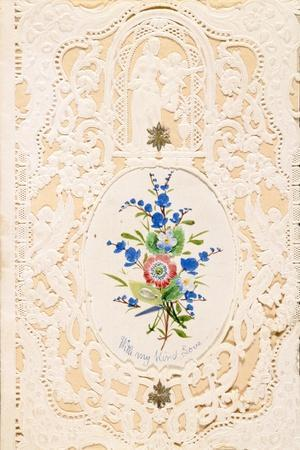 With My Kind Love, Valentine Card, C.1858