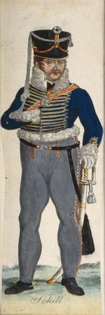 Portrait of Ferdinand Von Schill, Commander of the 2nd Regiment of the Hussars of Brandenburg, 1809