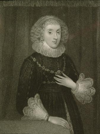Portrait of Mary Herbert (1561-1621), Countess of Pembroke, from 'Lodge's British Portraits', 1823