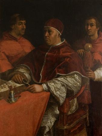 Pope Leo X with Two Cardinals, after Raphael