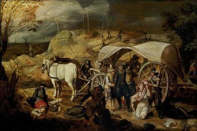 Soldiers Ambush a Cart and Passengers, Between 1600-1647