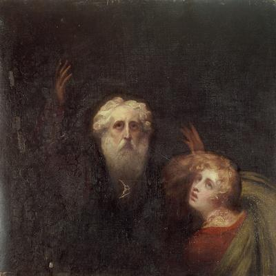 Prospero and Miranda, Fragment from 'The Tempest', C.1790