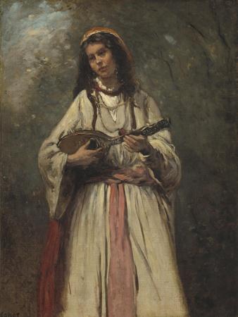 Gypsy Girl with Mandolin, c.1870