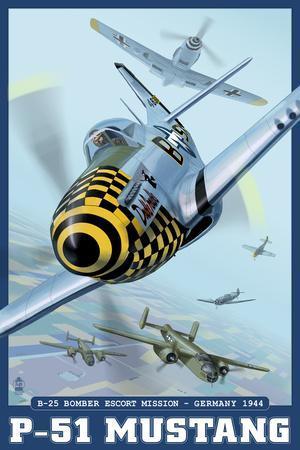 B-25 Bomber Escort Mission - P-51 Mustang, c.2008