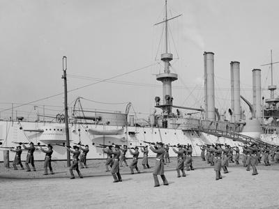 U.S.S. Brooklyn, Marine Guard, Bayonet Drill