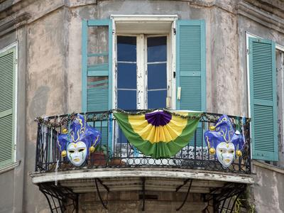 French Quarter Balcony During Mardi Gras