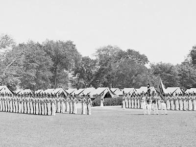 Inspection of Battalion with Color Guard, United States Military Academy, West Point, N.Y.