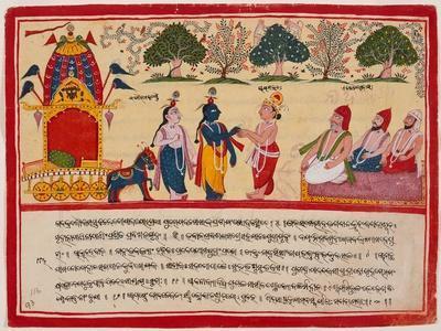 Krishna and Balarama Arrive in the Forest
