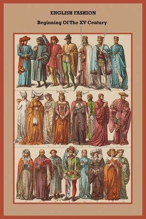 English Fashion Beginning of the XV Century