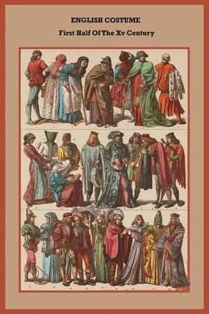 English Costume First Half of the XV Century
