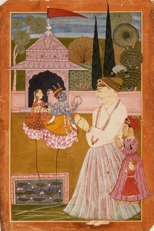 Maharaja Kumar Himan Raj Singh at Worship