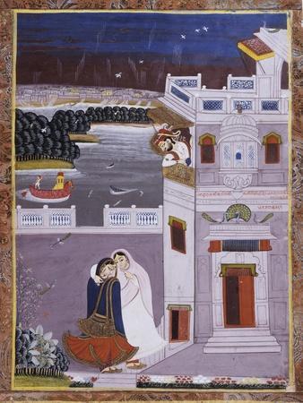 Maharaja Ajit Singh and Dancer