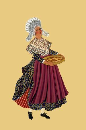 Merchant Woman from Galettos Du Gresivaudan