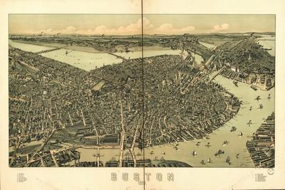 Boston in 1889 - a Bird's Eye View