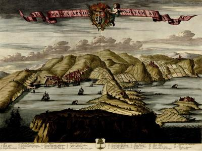 Straits and Defenses at Gibraltar - 1700