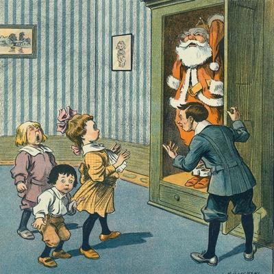 Santa Discovered in the Closet