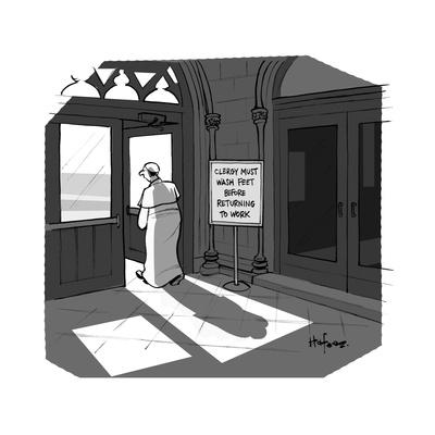 The Pope visits New York City. - Cartoon
