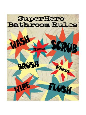 Superhero Bathroom Rules