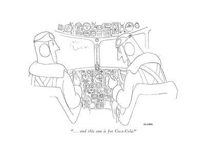 """""""...And this one is for Coca-Cola."""" - New Yorker Cartoon"""