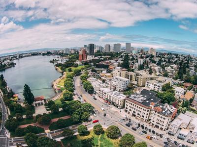 Afternoon View Over Lake Merritt, Oakland California