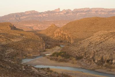 The Rio Grande River, with Mexico on the Left and the United States on the Right