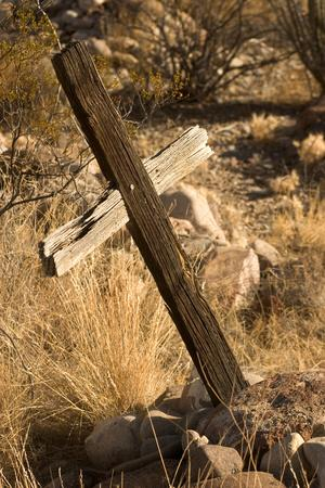 An Old Pioneer Cemetery Near the Town of Castolon in Big Bend National Park, Texas