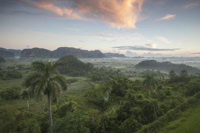 Sunrise over the Farmlands of Vinales Valley, Cuba