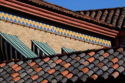 A Brick and Tile Pattern Near a Tile Roof, Influenced by their Sister City, Seville, Spain