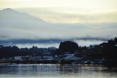 A Scenic View of Prince Rupert's Waterfront Community, at Sunrise