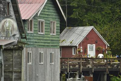 Picturesque Green and Red Painted Wooden Houses