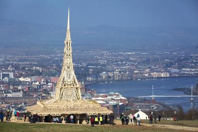 Temple, a Wooden Installation Built by David Best, on a Hillside in Londonderry, Northern Ireland