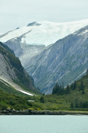 A Hanging Glacier in the Mountains Surrounding Tracy Arm Fjord