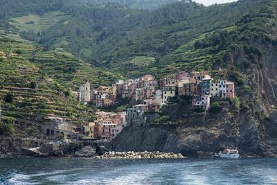View of the Manarola, Riomaggiore, La Spezia, Liguria, Italy