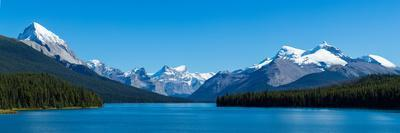 Maligne Lake with Canadian Rockies at Jasper National Park, Alberta, Canada